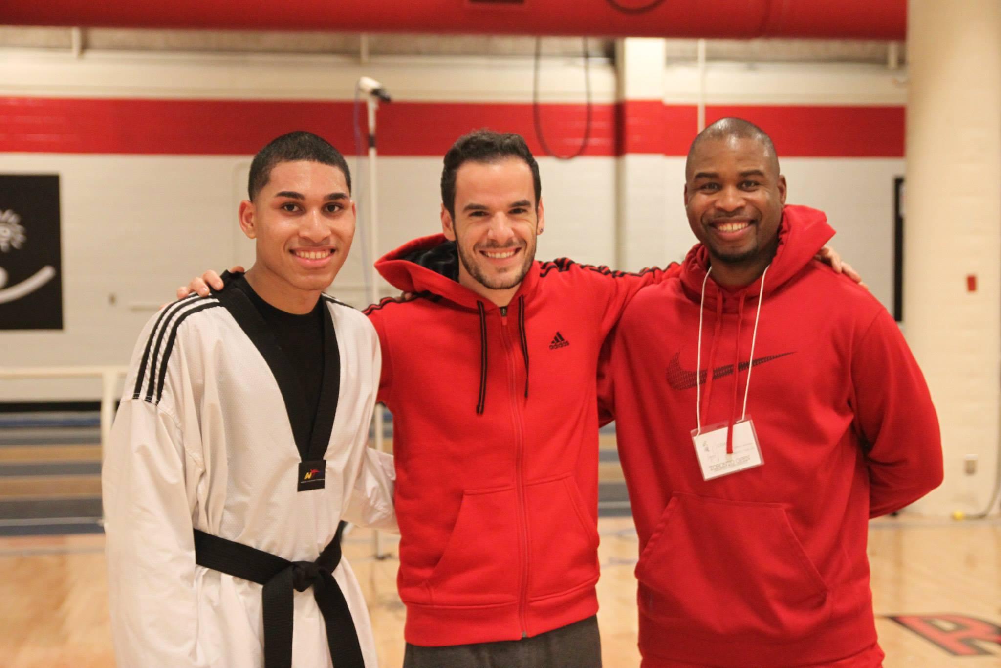 martial arts instructors smiling