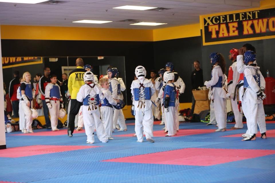 XTC taekwondo sparring class